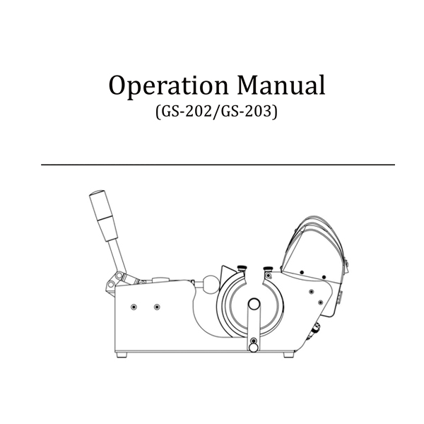 GS-202/GS-203 Operation Manual
